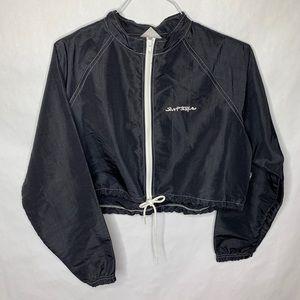 VTG Surf Style Black Cropped Windbreaker Jacket